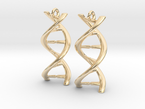 DNA Earrings in 14k Gold Plated Brass