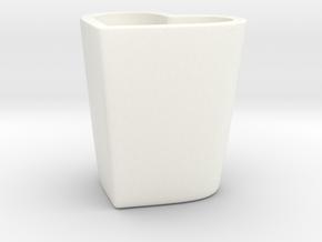 Espresso Heart Cup in White Processed Versatile Plastic