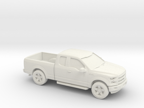 1/64 2015 Ford F150 Ext. Cab in White Natural Versatile Plastic