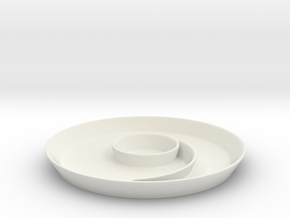 Spiral Main Dish in White Natural Versatile Plastic