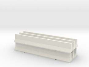 Road Barrier Pack in White Strong & Flexible