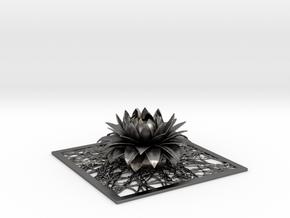 Aster flower decor element STL in Polished Nickel Steel