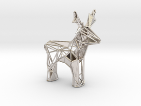 Reindeer toy stl in Platinum