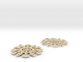 Large Snowflake Earrings in 14K Yellow Gold