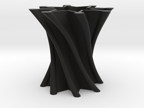 Vase01 in Black Natural Versatile Plastic