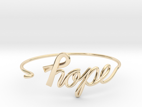Ribbon of Hope Bracelet in 14k Gold Plated Brass
