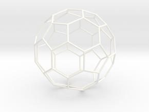 Ycocedron Abscisus Vacuus in White Processed Versatile Plastic