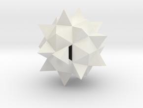 Duodecedron Abscisus Elevatus Solidus in White Strong & Flexible
