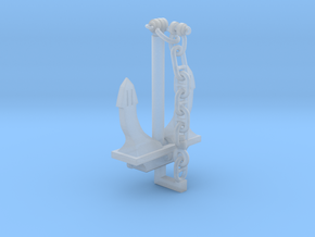 Ship's Danforth Anchor in Smooth Fine Detail Plastic