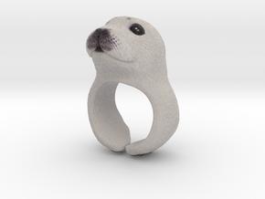 Seal Ring in Full Color Sandstone