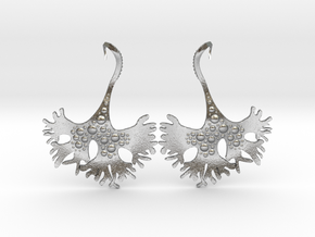 IrishMoss Earrings in Natural Silver
