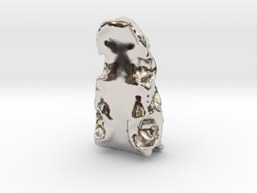 673 in Rhodium Plated Brass