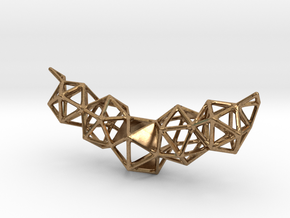 Icosahedron Pendent in Natural Brass