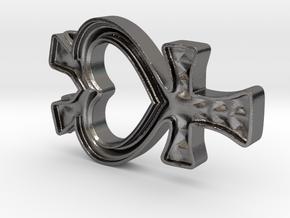 Sailor Mercury Symbol Pendant in Polished Nickel Steel