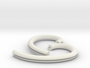 Ear Hook 2.5mm in White Natural Versatile Plastic