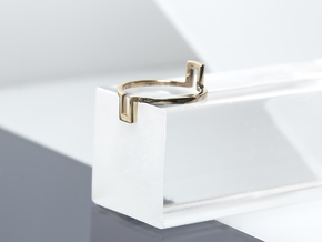 Rectangle Illusion Ring in Polished Bronze: 6 / 51.5