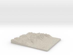 Model of Mount Wister in Natural Sandstone