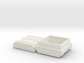 FTM Square Ammo in White Natural Versatile Plastic