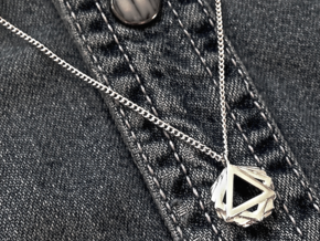 """""""GONS"""" Geometric Pendant in Polished Silver"""