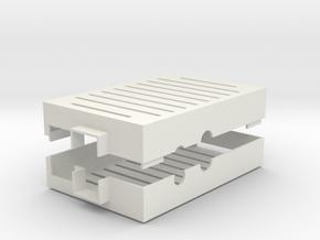 Raspberry Pi Case in White Natural Versatile Plastic