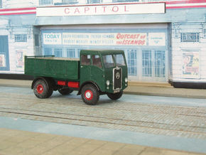 1:43 Atkinson c1950 SWB Cab&Chassis (2 parts) in White Strong & Flexible Polished