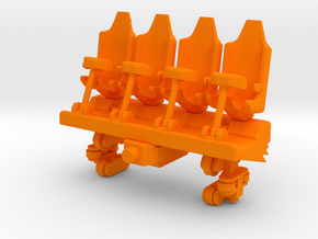 Wagon Seats small in Orange Processed Versatile Plastic