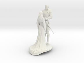 Fantasy Wedding Cake Topper in White Strong & Flexible