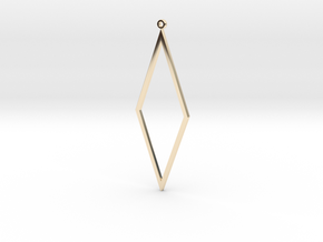 Rhombus Earrings in 14k Gold Plated Brass