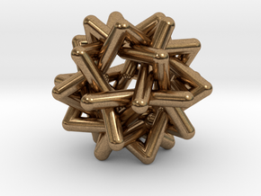 Six Tangled Stars in Natural Brass