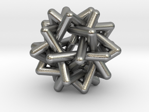 Six Tangled Stars in Natural Silver