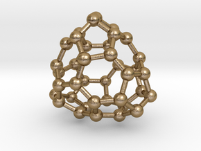 0090 Fullerene c38-9 d3 in Polished Gold Steel