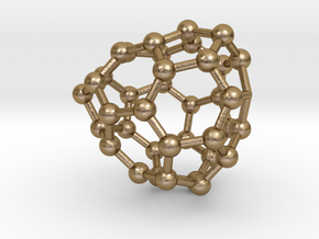 0089 Fullerene c38-8 c1 in Polished Gold Steel