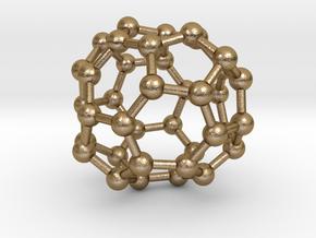 0094 Fullerene c38-13 c2 in Polished Gold Steel