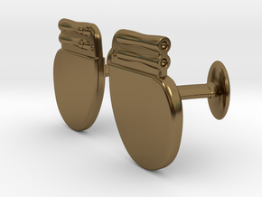 Pacemaker Cufflinks in Polished Bronze