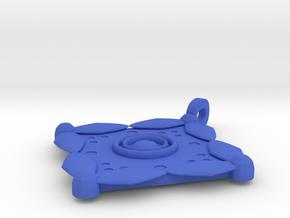 Batik Pendant in Blue Processed Versatile Plastic