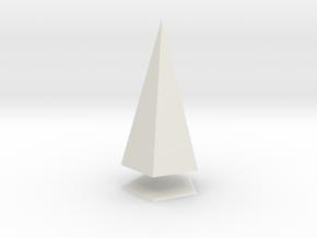 Pyramis Laterata Pentagona Solida in White Natural Versatile Plastic