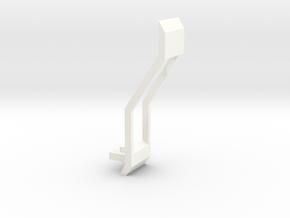 South Africa Springbok Flag Pendant: Part 3/11 in White Processed Versatile Plastic
