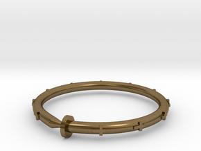 Cross Nail Bracelet in Natural Bronze