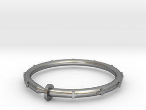 Cross Nail Bracelet in Natural Silver