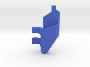 South Africa Springbok Flag Pendant: Part 8/11 in Blue Processed Versatile Plastic