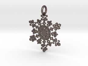 Crystal Slush Pendant in Stainless Steel