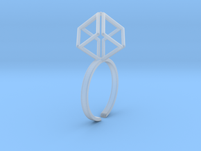 Dynamic Diamond Cube in Smooth Fine Detail Plastic