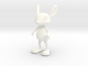 Tiny Bunny in White Processed Versatile Plastic