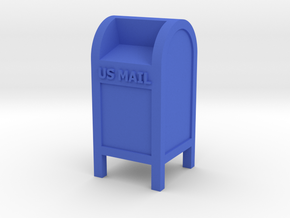 Mail Box - US Mail qty (1) HO 87:1 Scale in Blue Strong & Flexible Polished