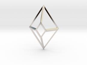 Cut-Off Diamond in Rhodium Plated Brass