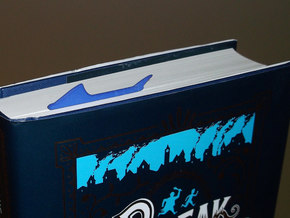 Shark Bookmark in Blue Processed Versatile Plastic