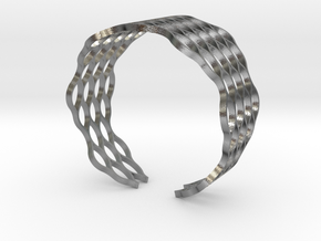 Mesh Bracelet - Small in Natural Silver