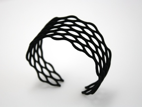 Mesh Bracelet - Small in Black Natural Versatile Plastic