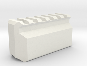 Picatinny SLP in White Natural Versatile Plastic