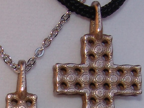 Cross with Depth in Stainless Steel